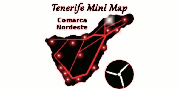El mapa más pequeño de Tenerife